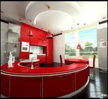 Crimson Kitchen by delaram