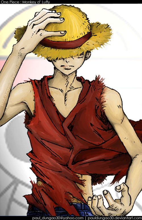 D Exhibition One Piece : One piece monkey d luffy by pauldungao on deviantart