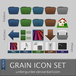 Grain Icon Set Kde4 by Untergunter