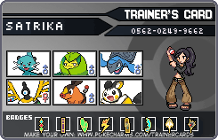 black trainer card