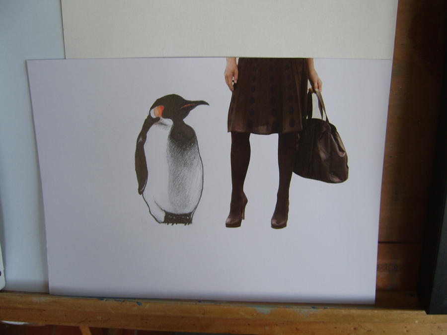 W.I.P penguin collage by Sherlocked