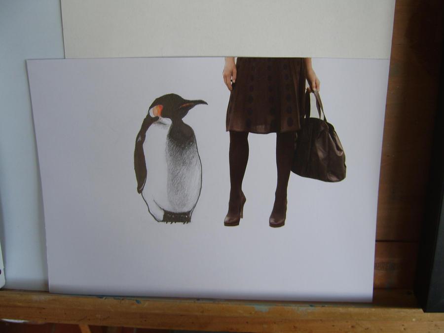 W.I.P penguin collage by Sherlocked
