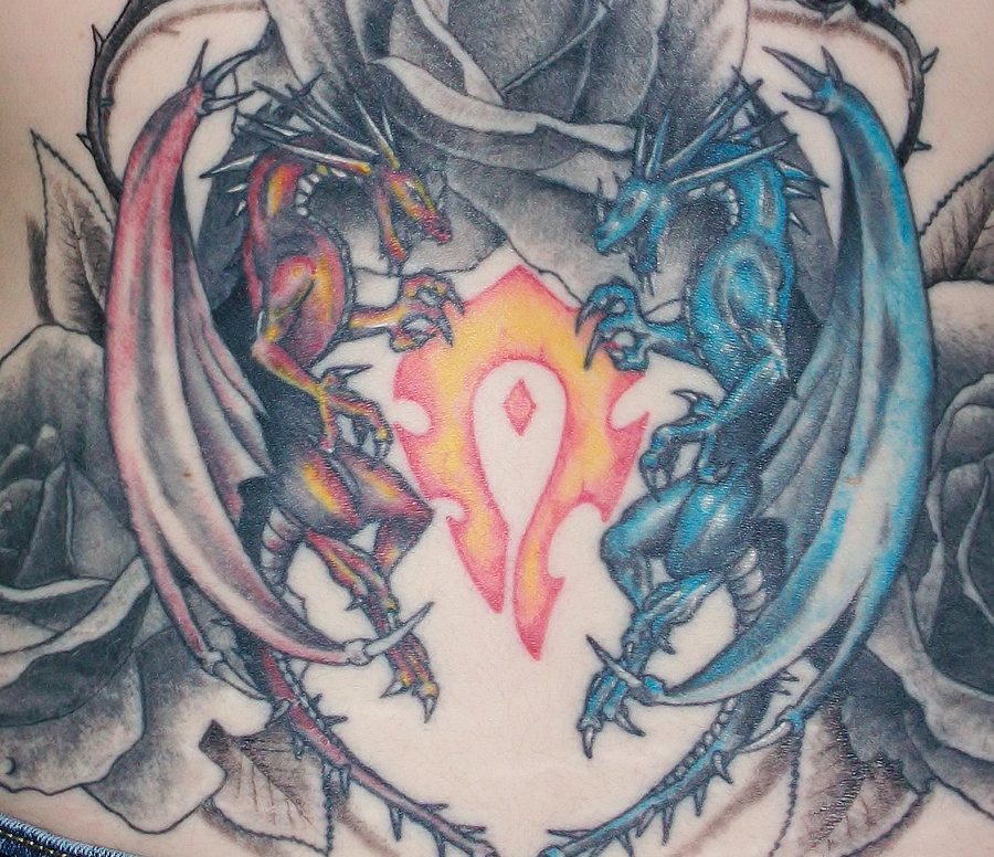 Fire and ice dragons by hyperpittie on deviantart for Fire and ice tattoo shop