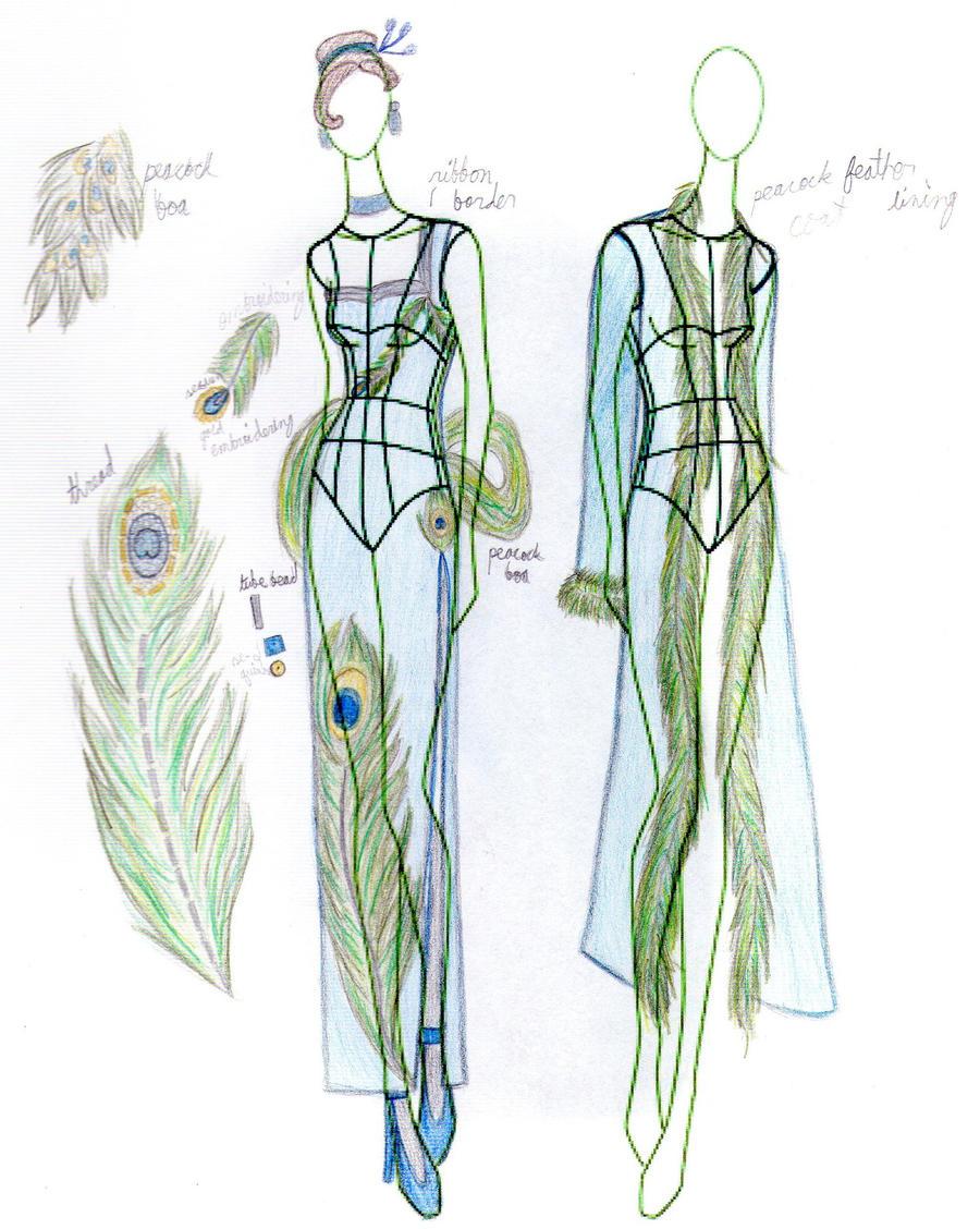 The Peacock Dress by Riazana on DeviantArt