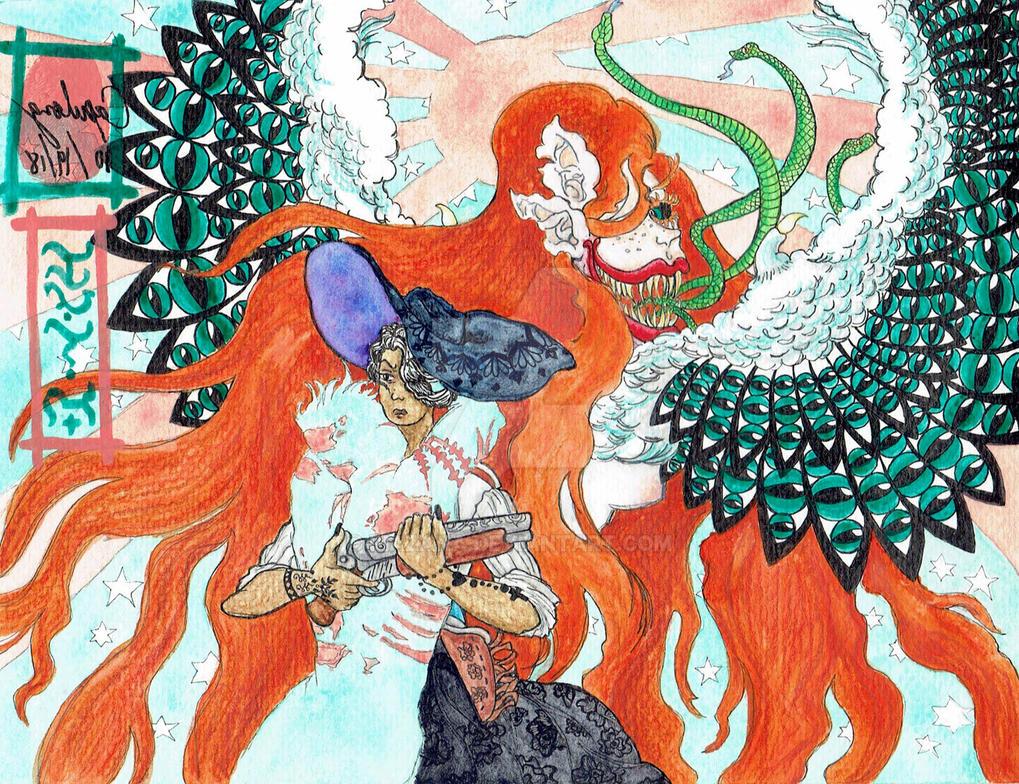 Jolene Versus The Huntress by Riazana