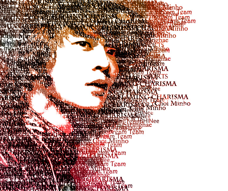 Typography: Choi Minho by mallowmuffin
