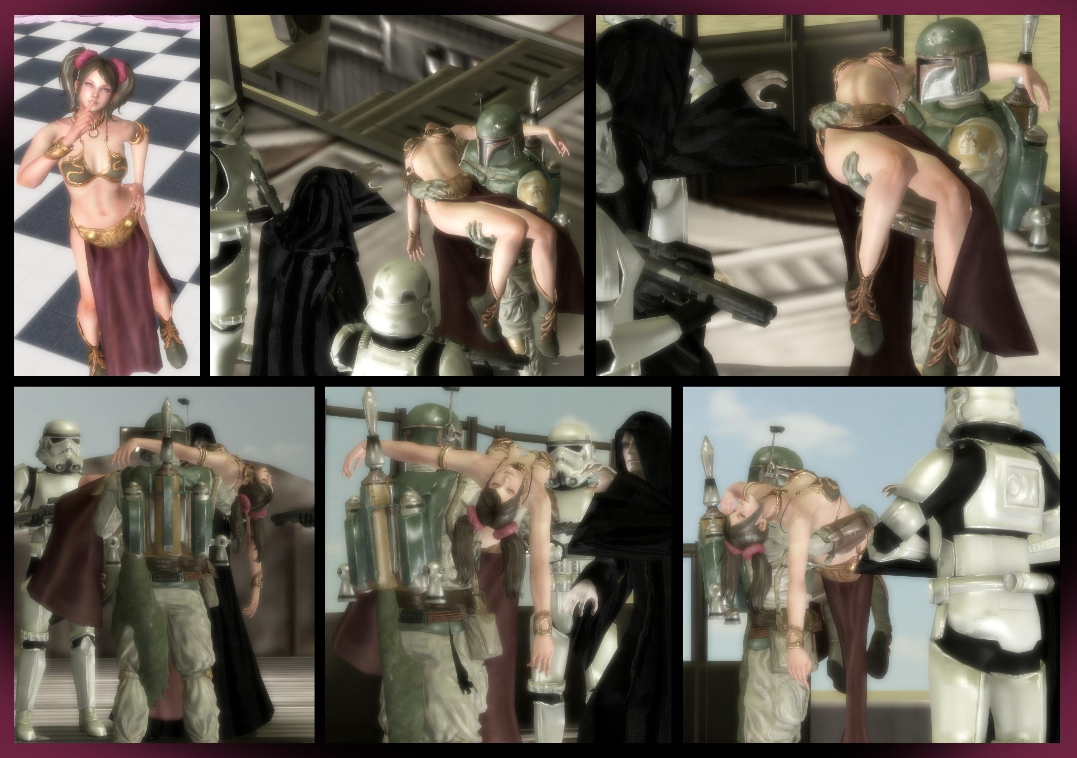 Juliet's Secret Cosplay Addiction! -Slave Leia- V2 by VoreQ