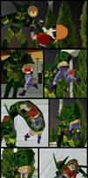Dragonball: Cell consumes Pan.