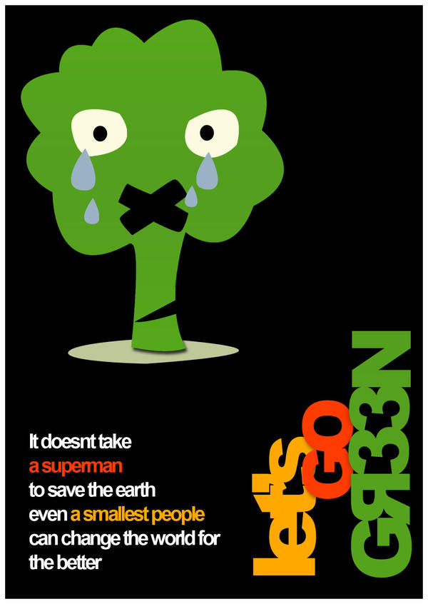 Image Gallery let's go green posters