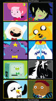Men Of Adventure Time :: 10 Sticker Pk by agentadvocate