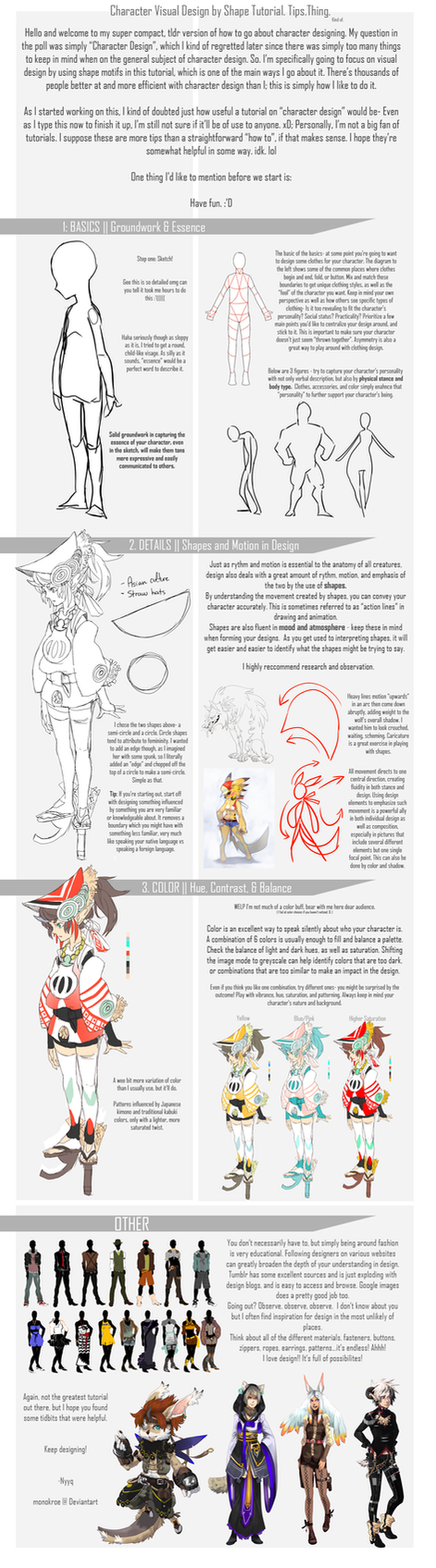 Character Design Basics : Basic character design by shape monokroe on deviantart