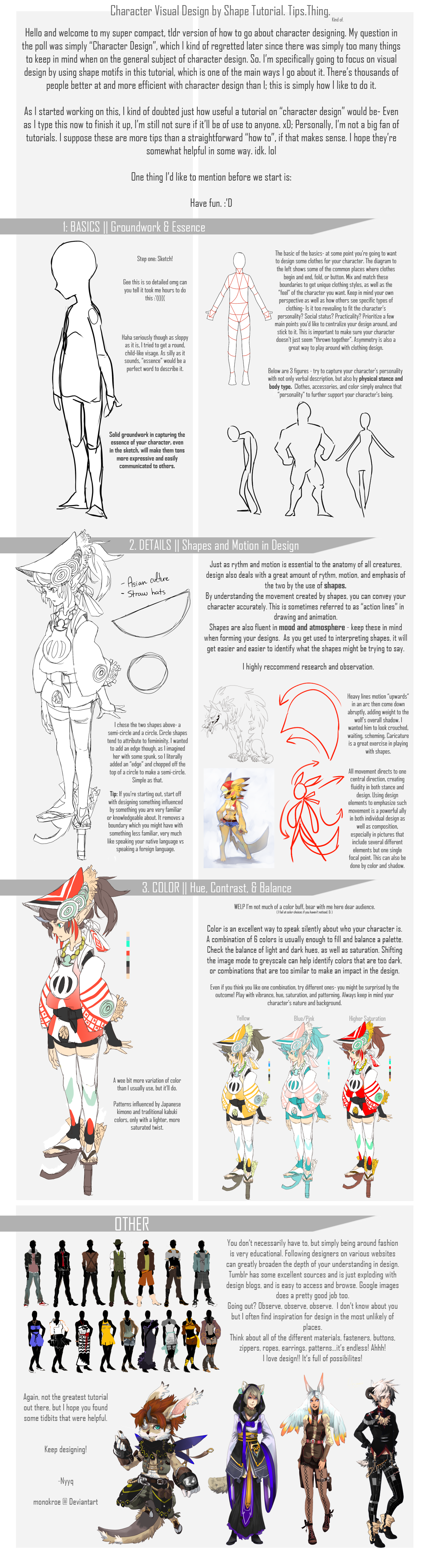 Digital Character Design Tutorial : Basic character design by shape monokroe on deviantart