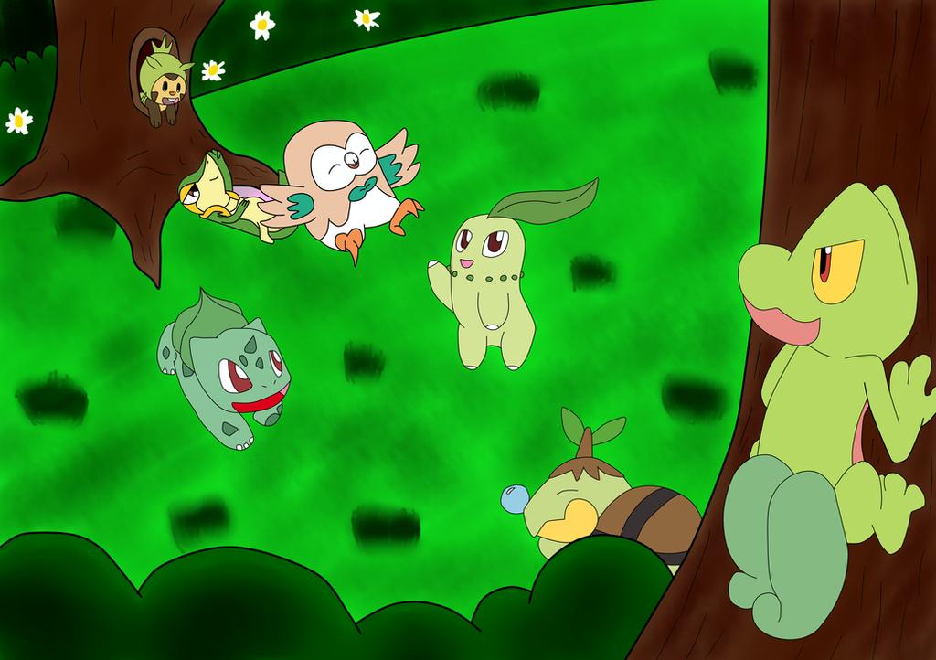 Pokemon- Grass Starter by EminenceObscure85 on DeviantArt