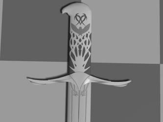 Altairs Sword Work In Progress by lilpunkduck