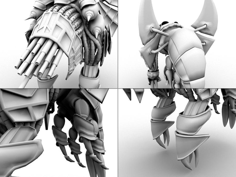 Basilisk War Droid Close-Ups by JimmyMarshall