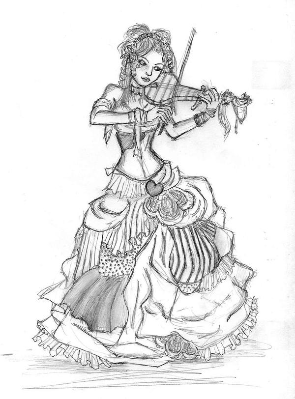 Gallery For gt Playing Violin Sketch