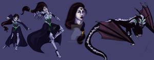 Shyvana vampire - Design for halloween skin