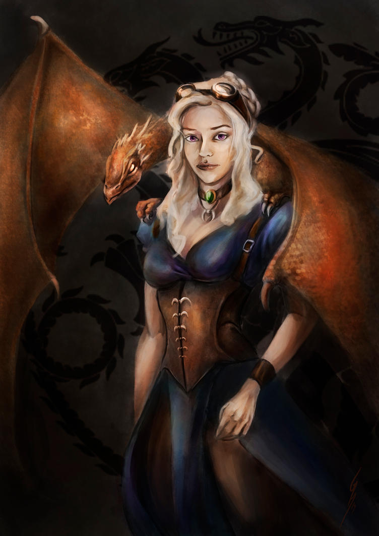 Daenerys  steampunk style by DragonsTrace