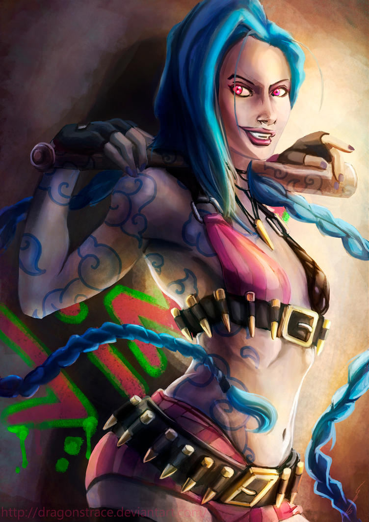 Jinx - League of legends by DragonsTrace