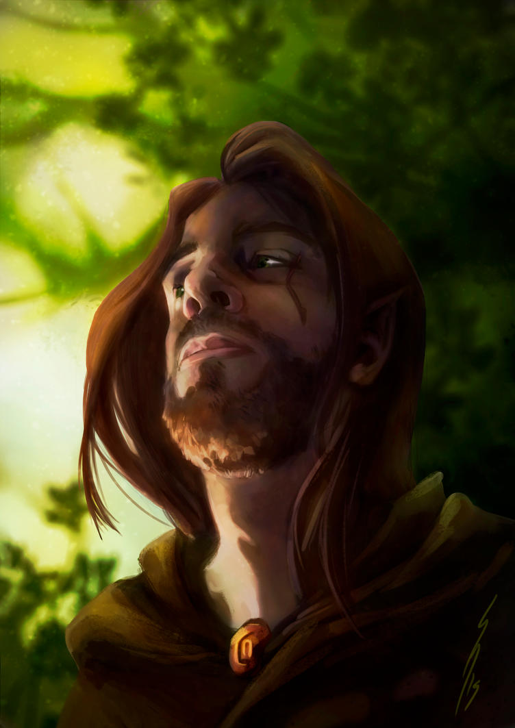 Tanthalas Half Elven by DragonsTrace