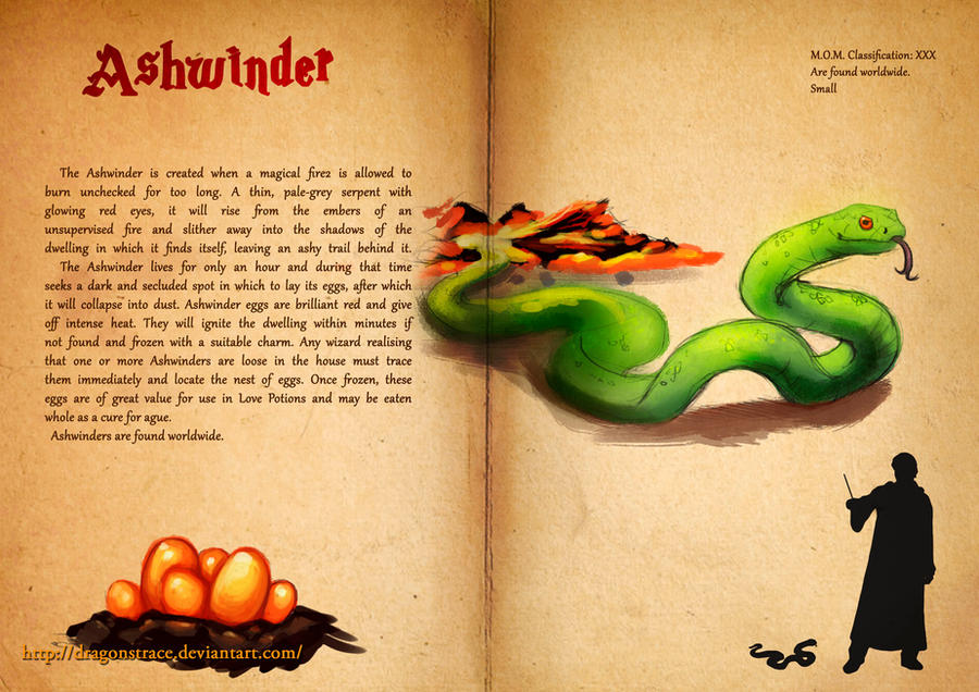 Ashwinder Fantastic Beasts Book By Dragonstrace On