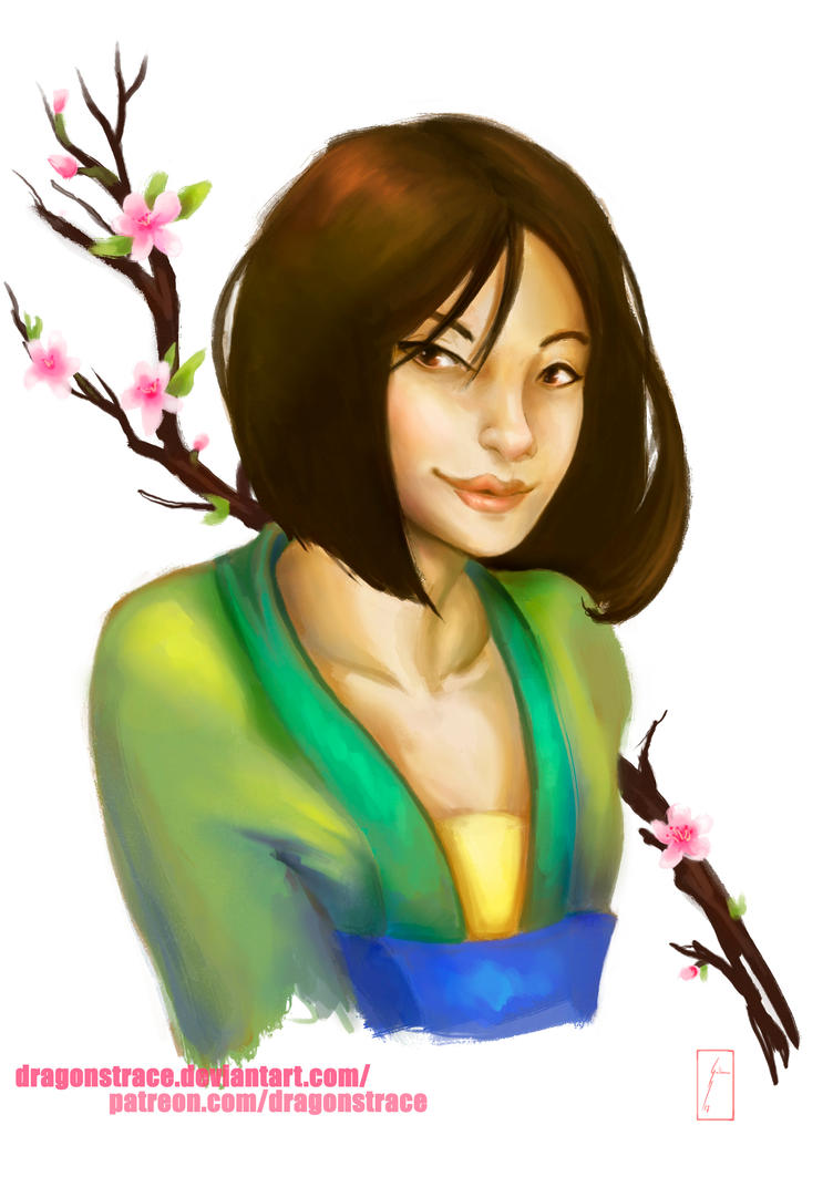 Mulan - Portrait sketch by DragonsTrace