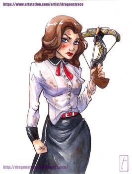 Elizabeth - watercolor 3