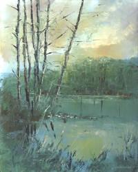 A quiet evening by flitart