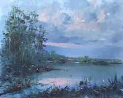 Blue dusk by flitart