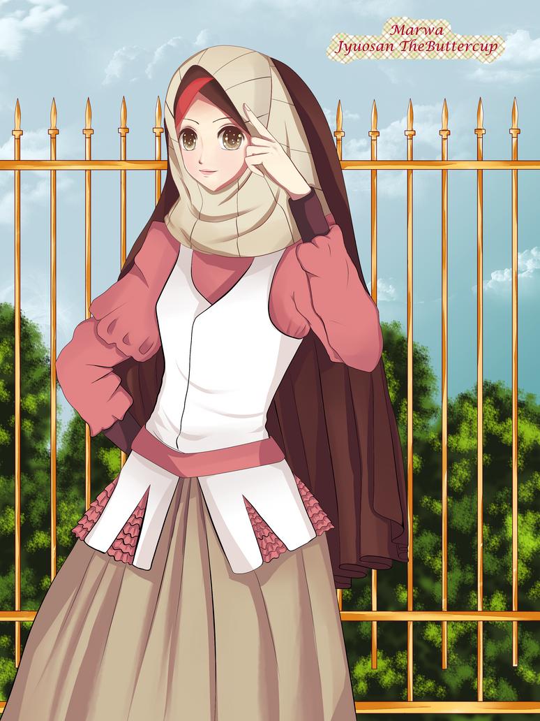 100 [ Gambar Anime Hijab Lucu ]