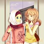 hijab and friend