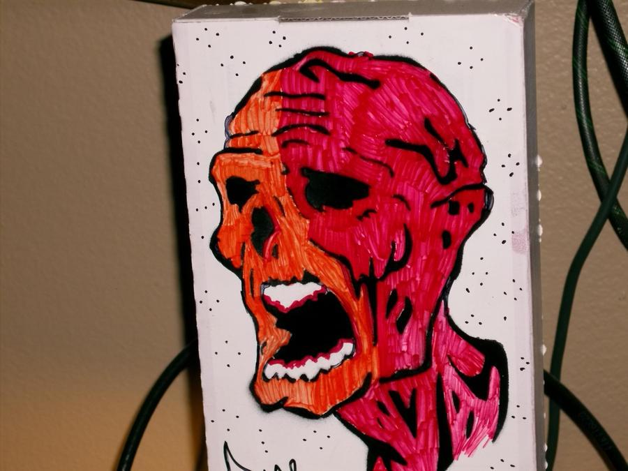 Zombie head stencil by pricekill420 on DeviantArt