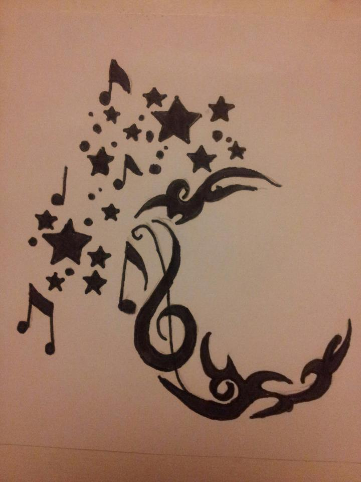 Tribal Musical Moon and Stars. by StarkSideoftheMoon on ...