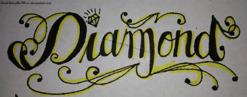 Diamond Tattoo Typography by StarkSideoftheMoon