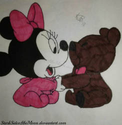 Minnie and Bear by StarkSideoftheMoon