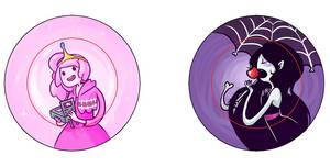 Bubblegum and Marceline Pins by IdentityPolution