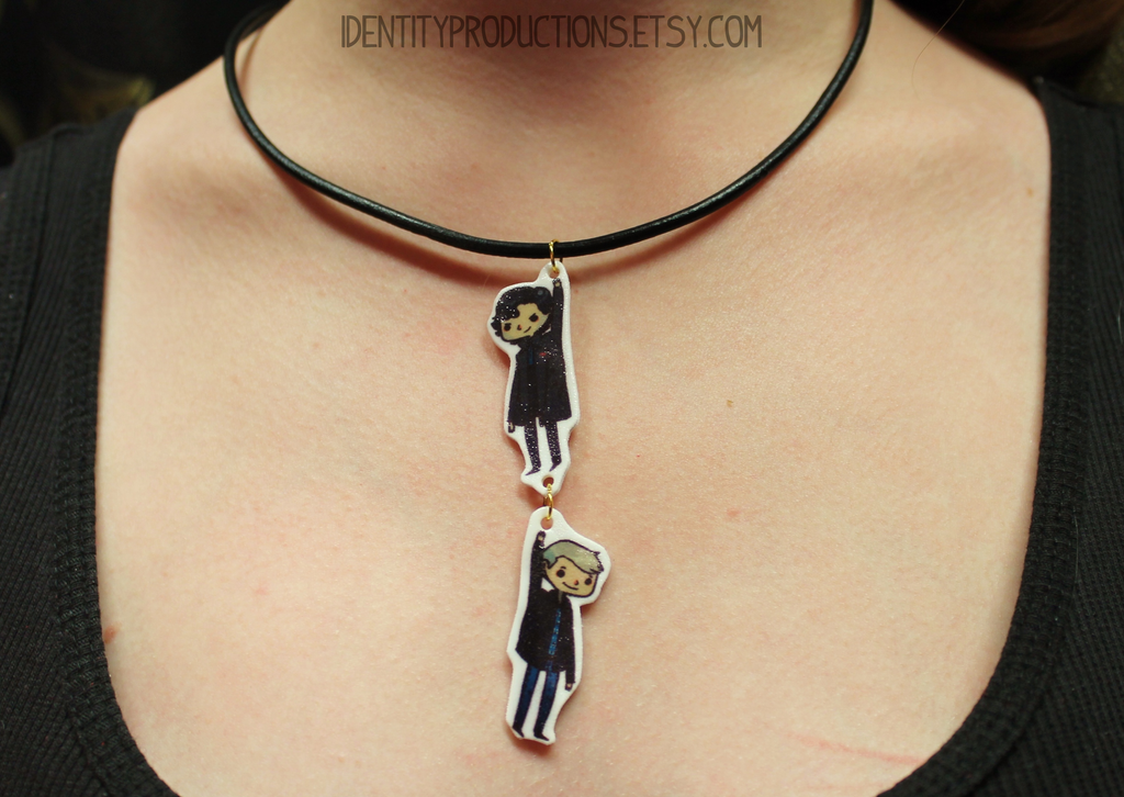 BBC Sherlock and Watson Necklace by IdentityPolution