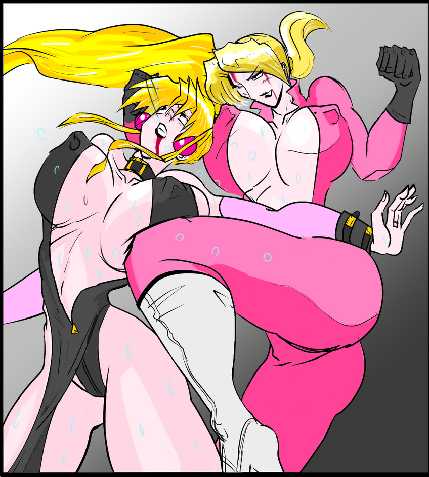 Blonde Brawl 2 - Nina vs Sofia by satoopid
