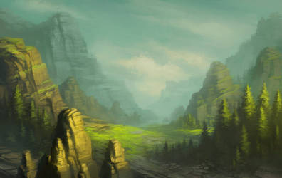 mountain meadow sketch3B