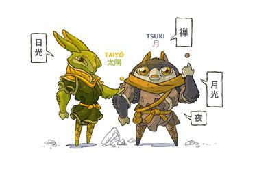 Taiyou and Tsuki - The pathfinders of Buddha.