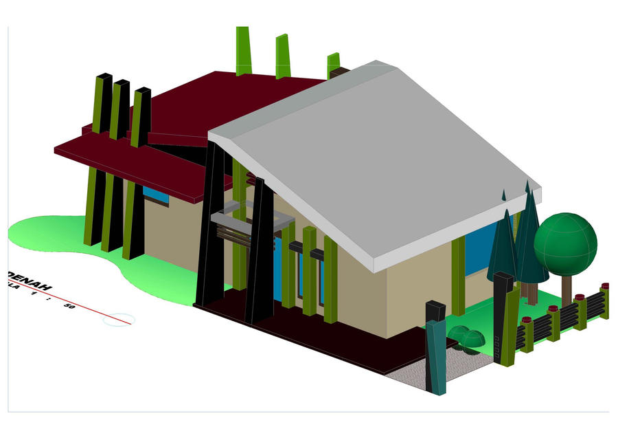 House Plan 3d In Autocad House Plans