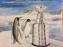 Penguins and the Stanley Cup by AshtonMack