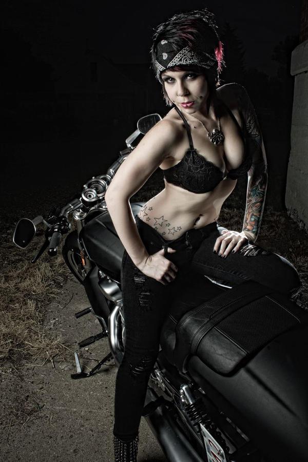 JQp - biker babe by LEGENDofLMPF
