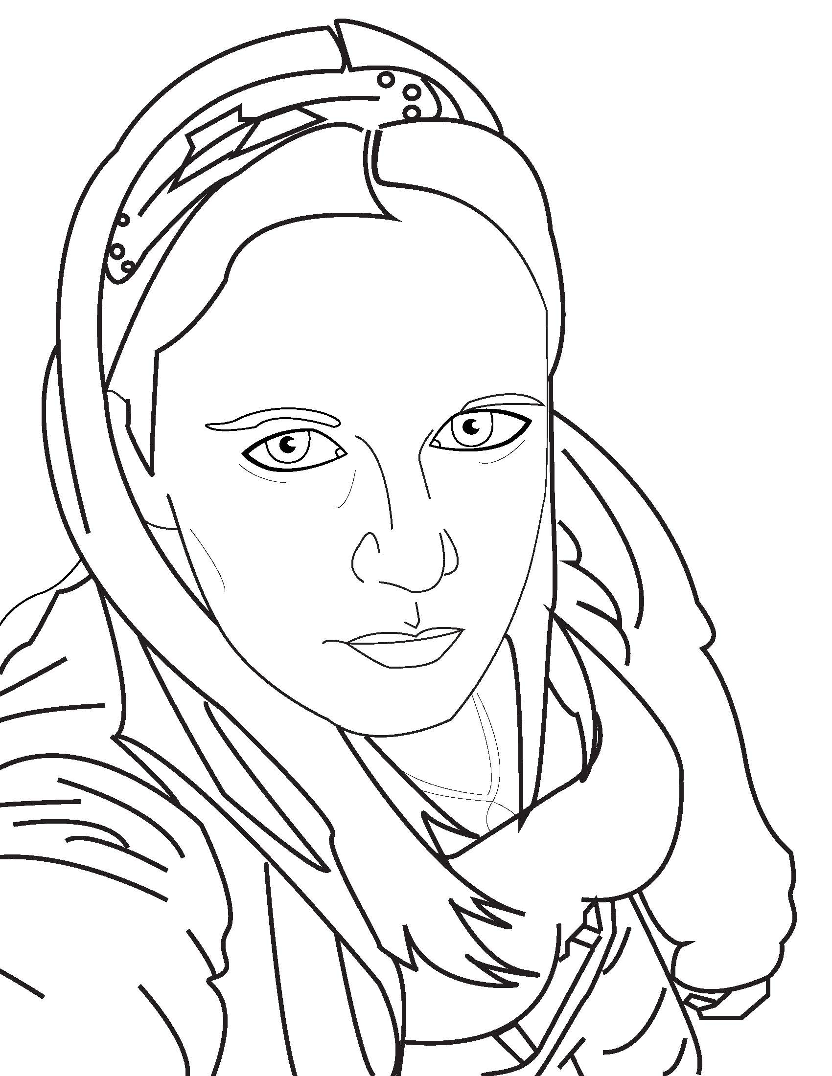 Line Drawing Portrait : Self portrait lineart by sparklingkajhit on deviantart