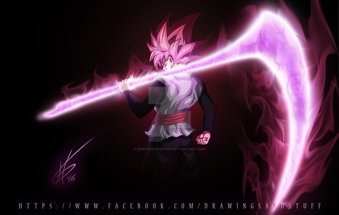 Super Saiyan Rose Goku Black Wallpaper: Black's Scythe [kapitanyostenk] : Dbz