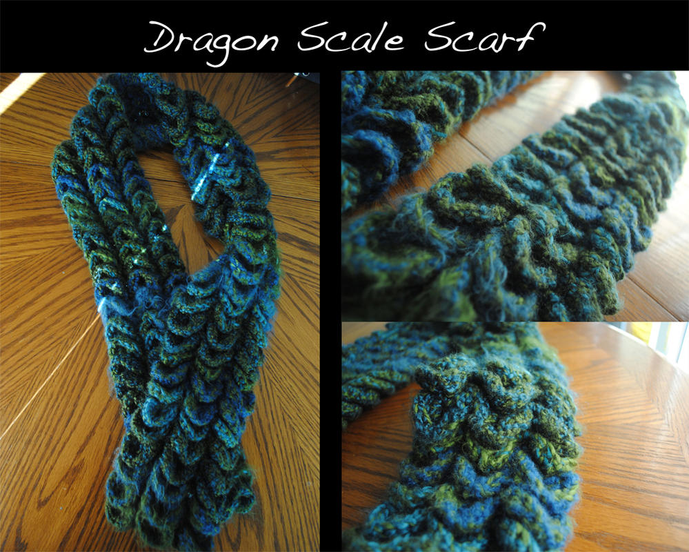 Dragon Scale Scarf by quirkyhime