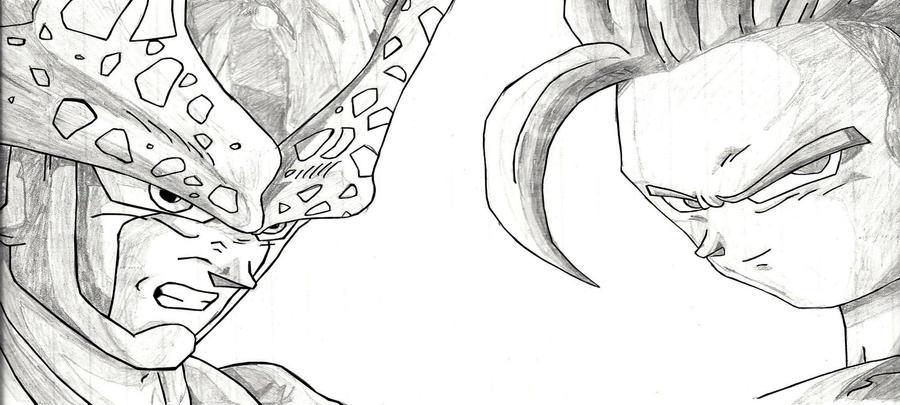 Gohan ssj3 para dibujar - Imagui