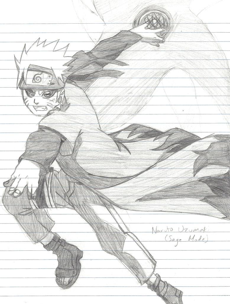 Naruto rasengan shuriken drawing