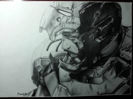 Tony Stark drawing by DeadArt1