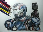 Iron Patriot color pencil